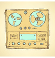 Sketch analog recorder vector image vector image