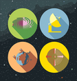 Space icons set with stars and galaxies vector image vector image