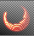Star trail light effect with neon blur eps 10 vector image