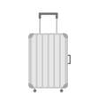 Suitcase icon Travel bag baggage Plastic luggage vector image