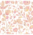Textured pastel Leaves Seamless Pattern background vector image vector image