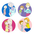 these different moms psychology parenting vector image