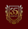thirty fifth anniversary vintage logo symbol vector image vector image