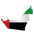 United Arab Emirates Flag vector image vector image