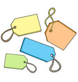 various color tags for sale vector image