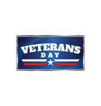 veterans day background vector image vector image