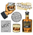 vintage american whiskey badge alcoholic label vector image