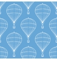 Vintage hot air balloons seamless pattern vector image vector image