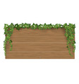 wooden signpost covered ivy sticks vector image