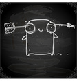 Wounded Creature Drawing on Chalk Board vector image vector image