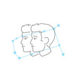 zodiac signs gemini line icon simple element vector image