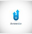 arrow star company logo vector image
