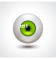 Green eye vector image