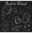 Hand Drawn School chalk sketch chalkboard vector image