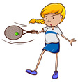 A female tennis player vector image vector image