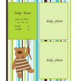 baarrival card with photo frames vector image vector image