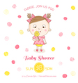 Baby Shower or Arrival Card - Baby Girl with Candy