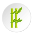 Bamboo icon flat style vector image vector image