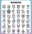 banking concept icons vector image vector image