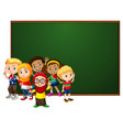 banner template design with many kids board vector image vector image