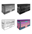 bar restaurant architectural construction of the vector image vector image