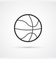 basketball sport ball black icon eps10 vector image vector image