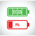 battery charging levels icons vector image vector image