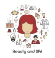 Beauty and SPA Line Art Thin Icons Set vector image vector image