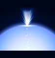 bright explosion with blue lights earth shiny in vector image vector image