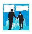 Business men sillhouettes vector image
