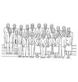 businesspeople standing together vector image vector image