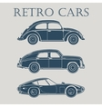 car retro 50s 60s 70s poster vector image vector image