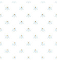christmas angel pattern seamless vector image