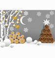 christmas holiday background with christmas vector image