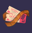 cinema tickets admission entrance and frame vector image vector image