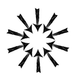 Circle of black grungy arrows vector image vector image