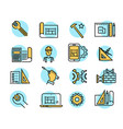 color building icons in simple style industry vector image vector image
