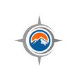 compass mountains logo icon vector image