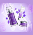 cosmetics product realistic composition poster vector image vector image
