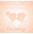 Delicate cream wedding card vector image vector image