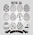 easter eggs with ribbon background vector image vector image