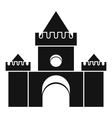 Fairytale castle icon simple style vector image vector image