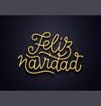 feliz navidad wishes typography text card vector image vector image