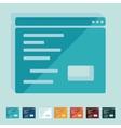 Flat design browser window vector image