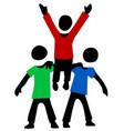 friends lift up figures cartoon vector image vector image