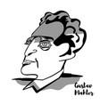 gustav mahler portrait vector image vector image