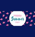 happy summer banner watermelon ice cream vector image vector image