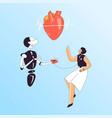 heart health medical checkup vector image