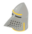 helmet knight old icon isometric 3d style vector image vector image
