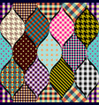 imitation of a patchwork vector image vector image